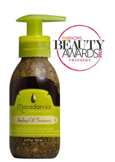 The 2013 She Knows Beauty Award for Hair: Oils & Treatments goes to @Macadamia NaturalOil's Healing Oil Treatment.