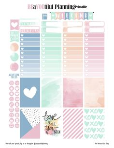 saved-Free Printable Love Planner Stickers {PDF and Silhouette Files for the Happy Planner and Erin Condren} from BEaYOUtiful Planning Planner 2018, To Do Planner, Free Planner, Day Planners, Planner Pages, Happy Planner, Planner Ideas, Filofax, Agenda Stickers