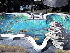 Amazing 3D street drawings