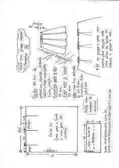 Saia com pregas macho fácil de fazer Crochet Skirt Pattern, Skirt Patterns Sewing, Clothing Patterns, Costura Diy, Pattern Drafting, Fashion Sewing, Sewing Techniques, Sewing Clothes, Sewing Tutorials