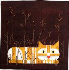 Autumn Angel Applique Cat Pattern, Charley Harper's Quilts by Treglown Designs at Creative Quilt Kits