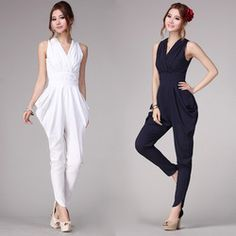 Online Shop Fashion White Jumpsuit For Women 2013 Elegant Black Jumpers Summer Harem Pants Casual Rompers Plus Size Free Shipping|Aliexpress Mobile