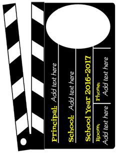 """Go Hollywood for Back to School this year! This Lights! Camera! Action! theme will be a hit with all of your """"viewers"""". Add in the names of the """"Directors"""", """"Crew"""", """"Cast"""" and students in the """"Spotlight""""."""