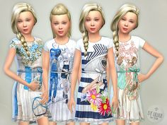 Designer Dresses Collection P17 by lillka at TSR • Sims 4 Updates