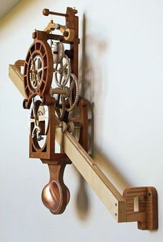 Woodworking Plans by Clayton Boyer, The Medieval Rack Clock diy for beginners plans tips tools Learn Woodworking, Woodworking Workbench, Popular Woodworking, Woodworking Furniture, Woodworking Projects, Furniture Plans, Woodworking Machinery, Woodworking Workshop, Woodworking Skills