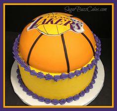 LA Lakers cake by Sugar Buzz Cakes by Carol, via Flickr