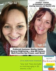 What if you had the best skin of your life? What if you felt confident enough to go without makeup? What if wearing makeup was a choice because you wanted to, not because you were trying to cover up imperfections?  I don't know about you, but Shelley does NOT look 53 to me  #healthyskin #lookyounger #itreallyworks #ageinreverse #amazingresults #usa #canada #australia Aging Backwards, Reverse Aging, New Times, Aging Process, Without Makeup, Look Younger, Eye Cream, Good Skin, Healthy Skin