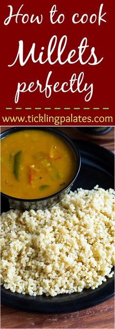 Learn how to cook millets perfectly every time. #vegan #glutenfree #millets