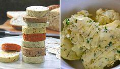 9 receptů na domácí bylinková másla No Salt Recipes, Cooking Recipes, Czech Recipes, Ethnic Recipes, Homemade Butter, Feta, Foodies, Food Porn, Food And Drink