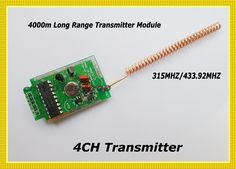 44.50$  Buy now - http://alixlf.shopchina.info/go.php?t=1884125639 - 4CH Remote Control 315/433MHZ Remote Controller Transmitter Long Range Far Distance Remote Control 4000m Transmitter Module 44.50$ #magazineonlinewebsite