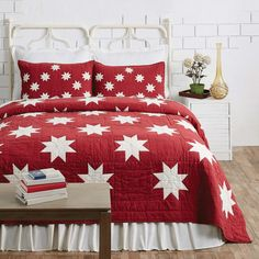 Country and Primitive Bedding – The BitLoom Co. King Quilt Sets, Queen Quilt, Bedding Sets Online, Luxury Bedding Sets, Primitive Bedding, Toddler Girl Bedding Sets, Black Bed Linen, Red And White Quilts, Christmas Bedroom