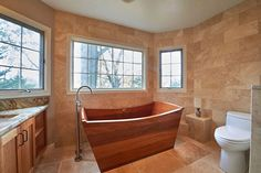 european style tub made of mahogany