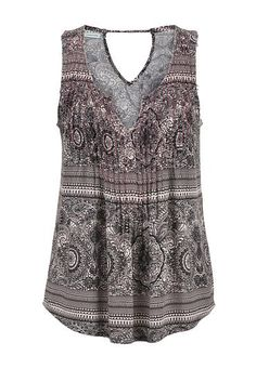 medallion print pleated front tank (original price, $29) available at #Maurices