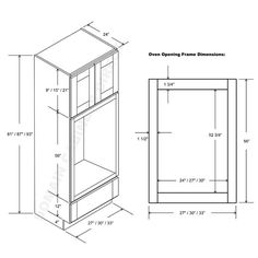 Double oven cabinet plan Kitchens Pinterest Cabinet plans