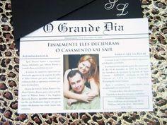 convite com foto do casal