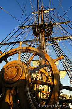 Ship's wheel and rigging***Research for possible future project.