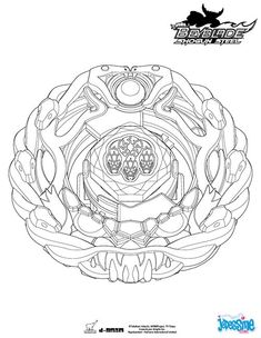 coloriage beyblade orochi