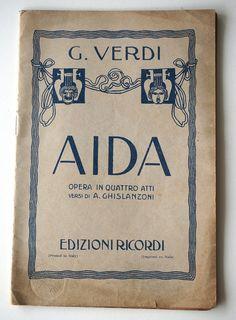 Verdi AIDA libretto d'opera italiana opera lirica