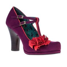 Ruby Shoo Womens Uma Shoes Plum 50s Shoes 32a358c8501