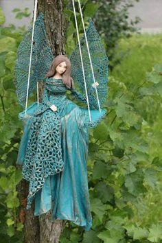 Fairy Crafts, Angel Crafts, Garden Crafts, Art Visage, Cement Crafts, Clay Dolls, Fairy Art, Fairy Dolls, Diy Home Crafts