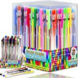 Bright Knight Gel Pens | 36 Gel Pen Set | These are Quality Gel Ink Pens | Multi Colored | Fine Ink Ballpoint Pens | Smooth, Anti Skip, Vibrant Color - Neon , Pastel, Metalic, Glitter | A Great Range of Colors in This Gel Pen Set |