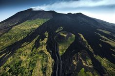Old lava flow on the southern side of Mount Etna volcano, near Ragalna, Sicily, Italy