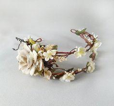 la corona nuziale parrucchino avorio fiore testa di thehoneycomb