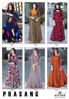 Manufacturer of Kurtis Wholesale - Heavy Rayon Kurti, Mittoo Payal Designer Rayon Kurti, Mittoo Prasang Vol 1 and by Shivali Kurti with Palazzo collection offered by King Sales, Surat, Gujarat Pakistani Dresses, Indian Dresses, Indian Outfits, Simple Dresses, Casual Dresses, Girls Dresses, Kurta Designs, Blouse Designs, African Fashion