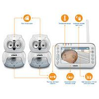 VTech Safe and Sound Expandable Digital Video Baby Monitor - VM344-2