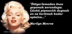 marilyn monroe sözleri ingilizce türkçe ile ilgili görsel sonucu