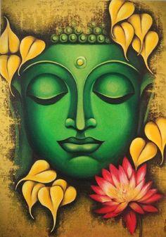 Buda Painting, Kerala Mural Painting, Pichwai Paintings, African Art Paintings, Colorful Paintings, Buddha Artwork, Buddha Drawing, Buddha Canvas, Ganesha Painting