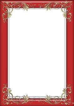 Transparent Frames | Holiday Red Transparent Frame