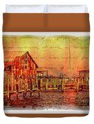 Wasting Away - A Digital Abstract Painting Duvet Cover by Bill And Deb Hayes