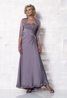 Cameron Blake Iridescent Chiffon Evening Dress 112645 at frenchnovelty.com