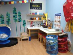 Art and play therapy room