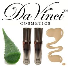 Da Vinci Liquid Foundation - 6-in-1 (Anti-Aging, Mineral, Liquid, SPF –15, Aloe Vera Leaf Extract and Foundation) created especially for our customer that love liquid foundation. Its combination of mineral loose powder and Aloe Vera leaf extract. Our Foundation will create an optical blurring effect that virtually diminishes imperfections and fine lines.  $69.90
