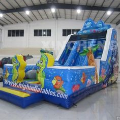 Inflatable sea world slide,XS26, size:11x5.5x7m