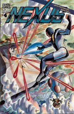 Comic Book Critic - Google+ - Nexus #4 (Capital, Nov '83) painted cover by Steve Rude.