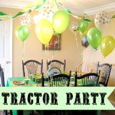 Tractor birthday party theme is perfect for all the boys and all girls. A fun theme with lots of supplies to chose from. Browse through my food...