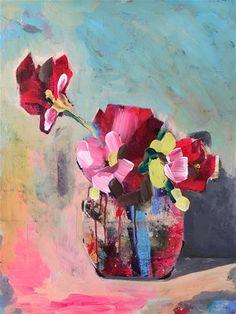 DPW Fine Art Friendly Auctions - Roses in Jar by Jenny Doh