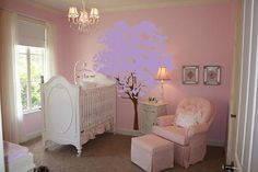pictures of bedrooms with lilac walls | Large Wall Nursery Tree Decal Olive Leaves #1117 - InnovativeStencils