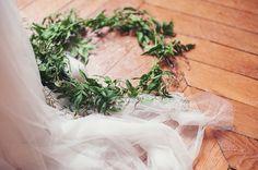 Jasmine flower crown and veil