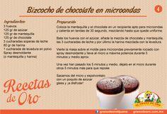 Biscocho de chocolate en microondas