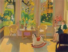 "Fairfield Porter (American, 1907-1975) - ""October interior"", 1963"