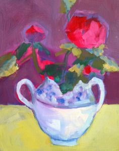 "Annie O'Brien Gonzales-Contemporary Abstract Still Life Art Painting ""Sugar?"" by Santa Fe Artist Annie O'Brien Gonzales-http://annieobriengonzalespaintings.blogspot.com/2015/02/contemporary-abstract-still-life-art_19.html"