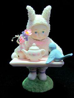 Department-56-Snowbunnies-Bunny-Brunch-w-Orig-Box-Teapot-Bluebird