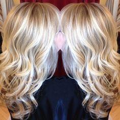 Blonde highlights and loose beachy curls! Hair by Rachel @ Sara Fraraccio Salon