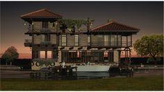 House On Riverside, Sertaç Timar on ArtStation at https://www.artstation.com/artwork/BJQx6