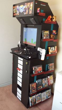 50 Video Game Room Ideas to Maximize Your Gaming Experience. Best Video Game Room Design Ideas # gameroomdisign 10 Video Game Room Ideas to Maximize Your Gaming Experience. Game Room Furniture, Cool Furniture, Furniture Ideas, Deco Gamer, Arcade Room, Geek Room, Video Game Rooms, Video Games, Gaming Room Setup