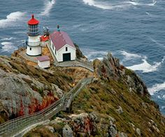 The Point Reyes Lighthouse is located at the western-most point of the Point Reyes Headlands. The Visitors Center is open 10:00am-4:00pm, Thursday through Monday.